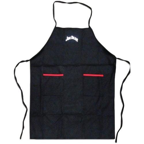 Jim Beam STLAJB0112 Kit - Classic Grill Apron, Heavy-duty Cooking Mittens