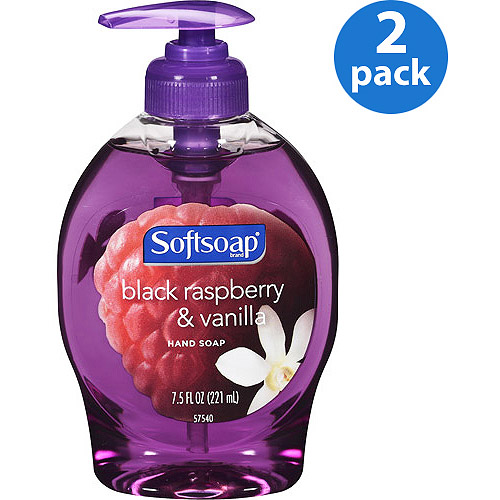 Softsoap Black Raspberry & Vanilla Liquid Hand Soap, 7.5 oz, 2pk