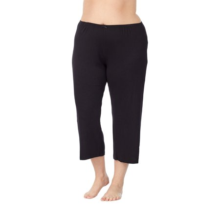 Women's Capri sleep pant in super soft slinky knit