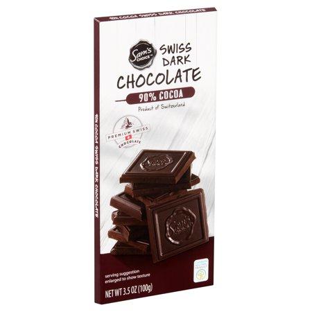Sams Choice 90% Cocoa Swiss Dark Chocolate, 3.5 oz