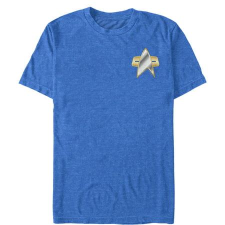 (Star Trek Men's DS9 Metal Communicator Badge T-Shirt)