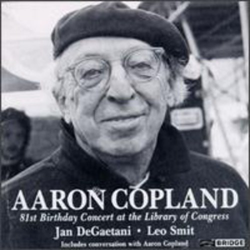 This CD also contains a conversation between Aaron Copland, Donald L. Leavitt, and Leo Smit.<BR>REVIEWS:<BR>Billboard (11/27/99) - Recommended
