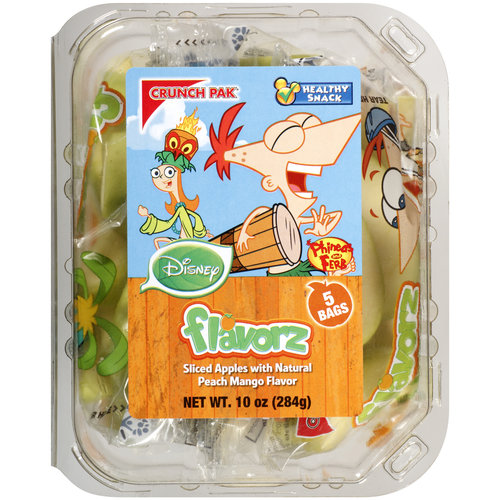 Crunch Pak Flavorz Disney Sliced Apples with Natural Peach Mango Flavor, 5 count, 10 oz