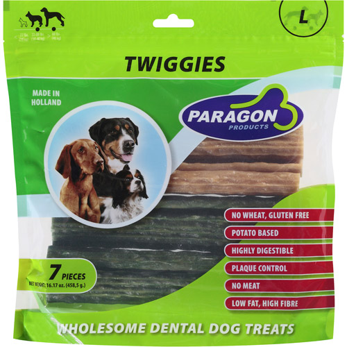 Paragon Products Twiggies Wholesome Dental Vegetable Based Large Dog Treats, 7ct