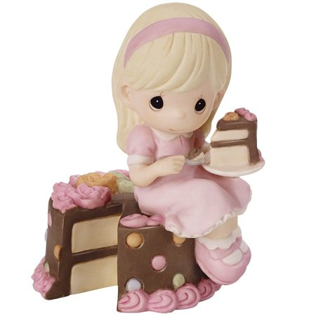 Precious Moments 152000 Have Your Cake And Eat It Too Figurine (Precious Moments Heart Cake)