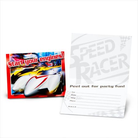 - Speed Racer Invitations w/ Env. (8ct)