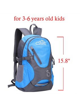 "Campingsurvivals 16"" Kids Children Small Backpack, 20L Waterproof Travel Camping Rucksack School Book Bag for 3-6 Age Girls Boys Outdoor Sports,Blue"
