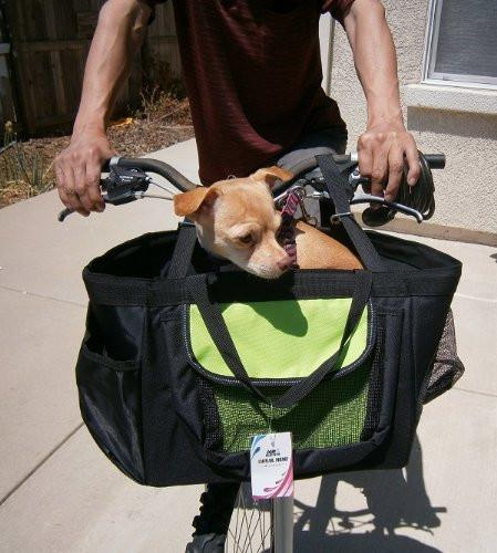 3-in-1 Small Pet Dog Puppy Bicycle Basket Car Seat and Ha...