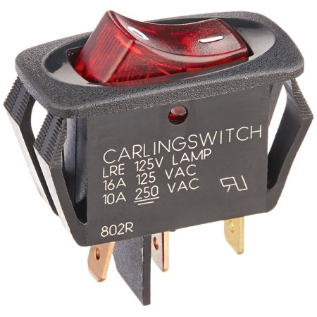Oreck 3700HH, 3710HH Vacuum Cleaner 1 Speed On Off Switch Assembly With 3 Leads # 75523-03 (Oreck Vacuum On Off Switch)