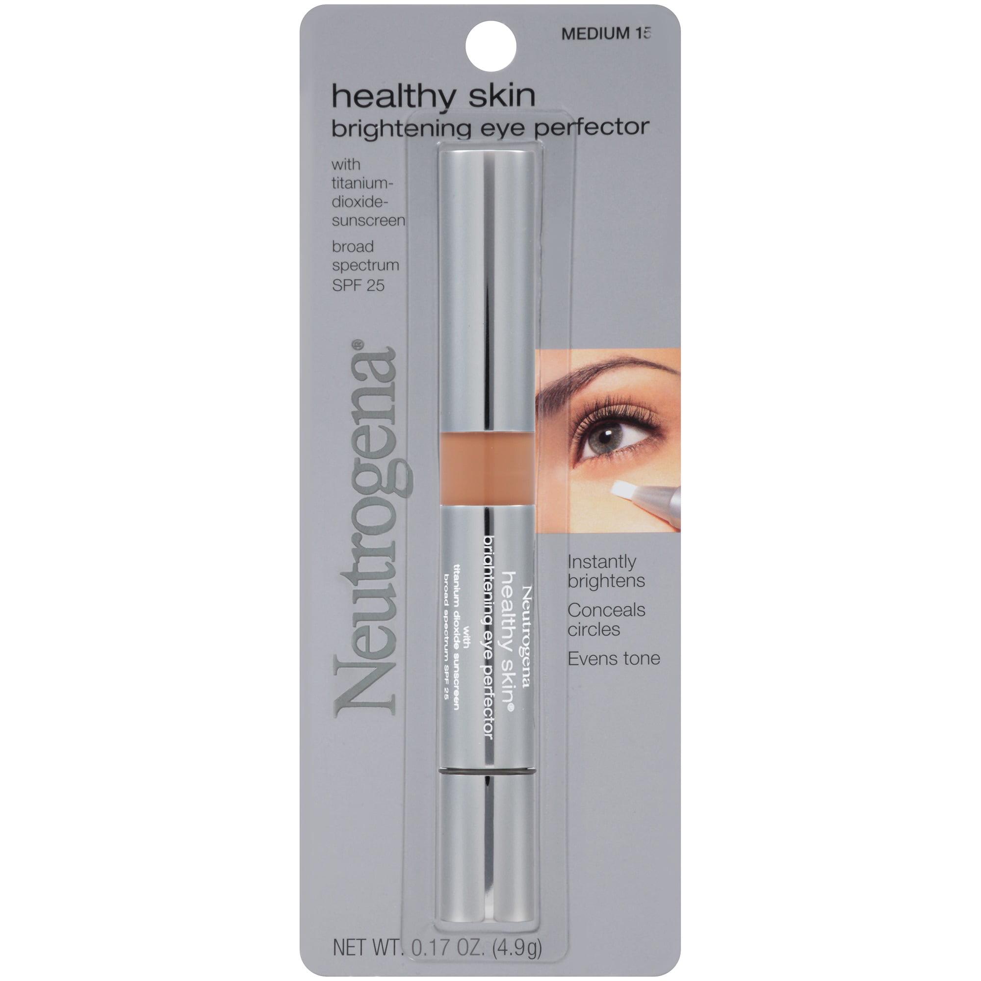 Neutrogena Healthy Skin Brightening Eye Perfector Broad Spectrum SPF 25, Medium 15, .17 Oz