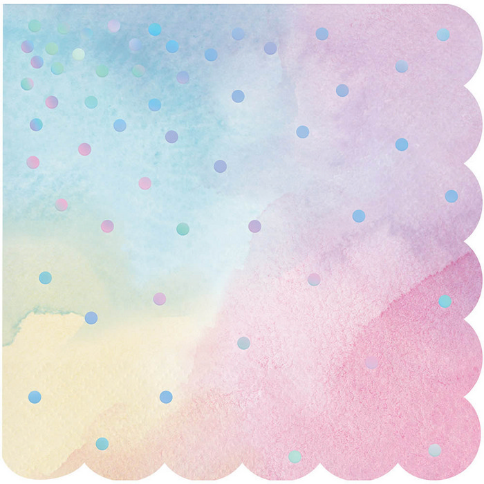 Iridescent Shaped Beverage Napkin (16)