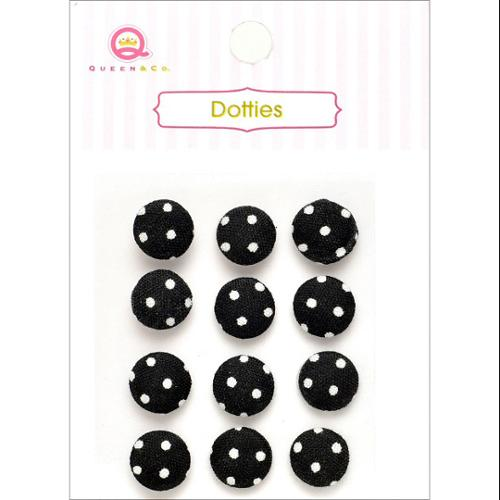 Dotties Self-Adhesive Fabric Dots 12/Pkg-Black