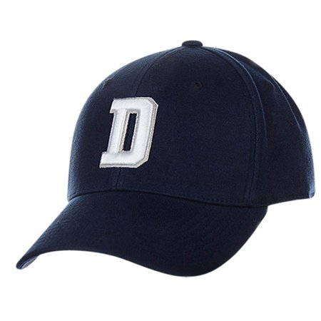 Dallas Cowboys NFL D Logo Hat Cap Blue Flex Fit Adult Men s L XL -  Walmart.com eb895230f