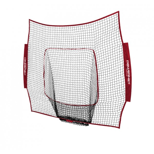 PowerNet Baseball and Softball 7x7 Color Nets (Net Only) Replacement - New Team Color - Maroon