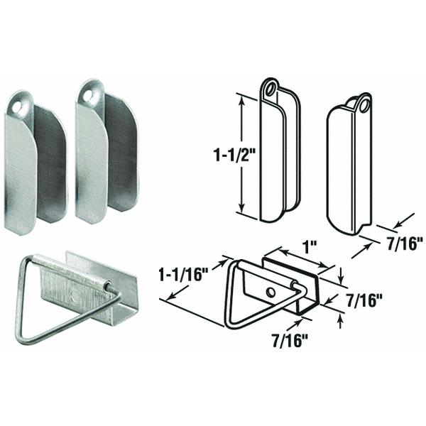 Prime Line Products 1819 Mill-Finish Aluminum Window Screen Hanger & Latch Set