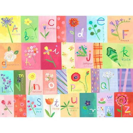 Oopsy Daisy Murals - Oopsy Daisy - A-Z Flowers Canvas Wall Mural 42x32, Jill McDonald