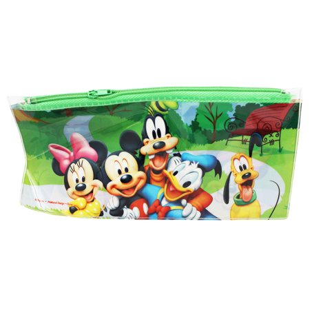 Disney's Mickey Minnie Donald Goofy and Pluto Kids Pencil Pouch (Mickey Minnie And Pluto Halloween Costumes)