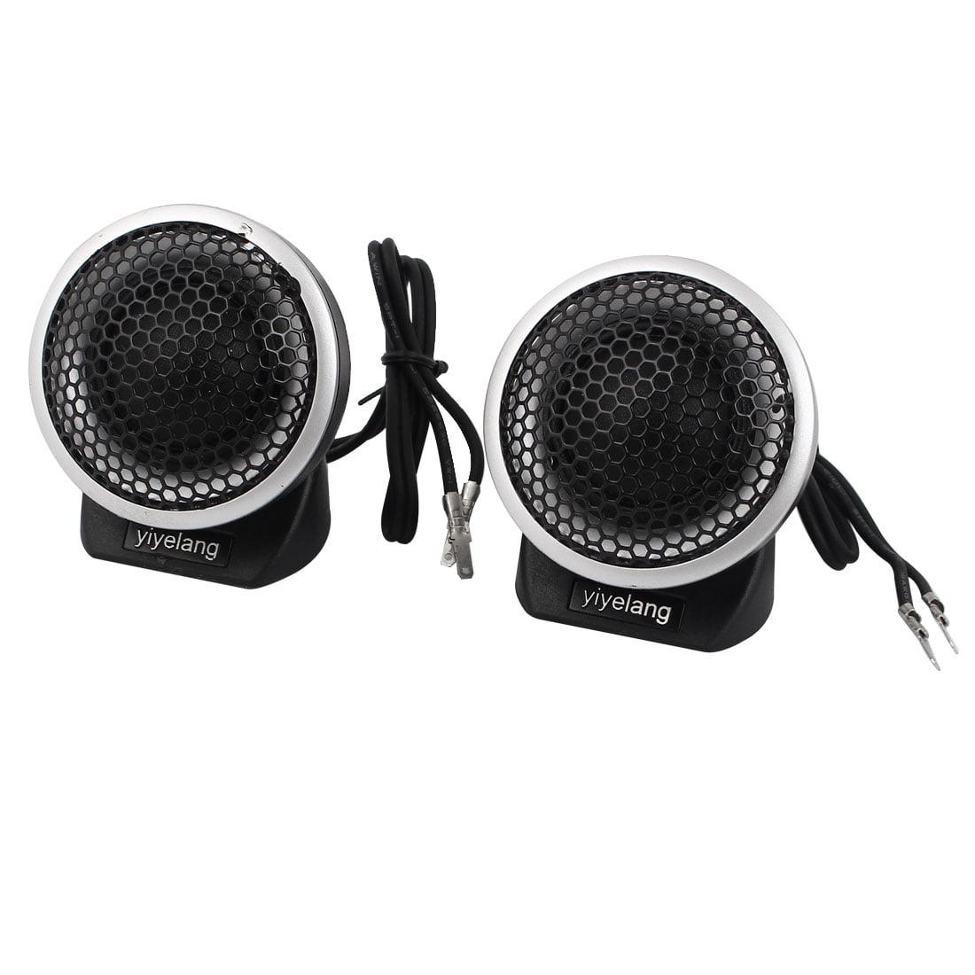 "2"" Dia Black Metal Dome Tweeter Speaker 2 Pcs for Auto Car Audio System"
