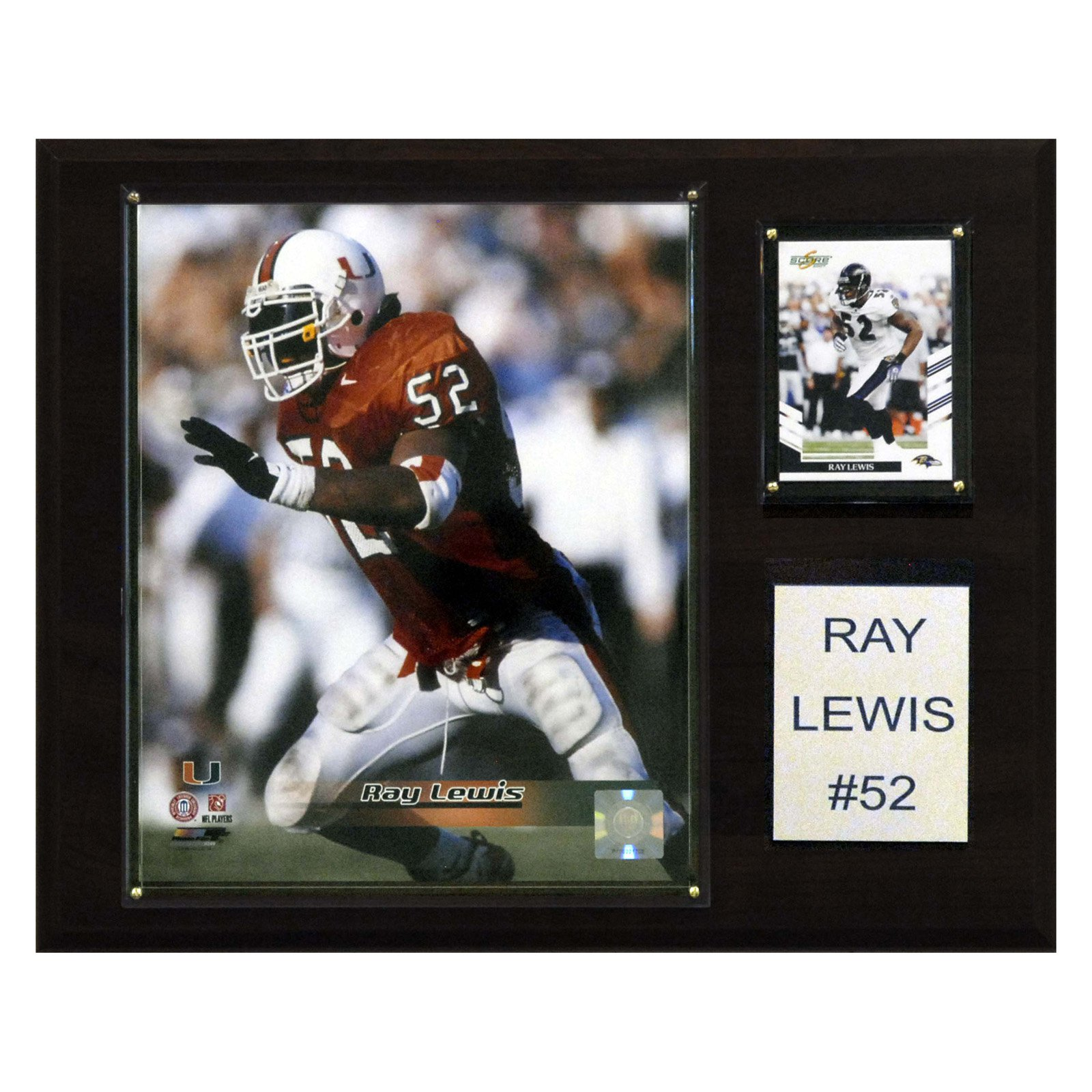 C&I Collectables NCAA Football 12x15 Ray Lewis Miami Hurricanes Player Plaque