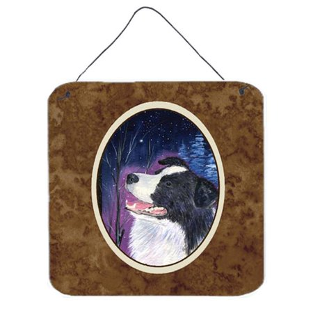 6 In. Starry Night Border Collie Aluminium Metal Wall Or Door Hanging Prints - image 1 de 1