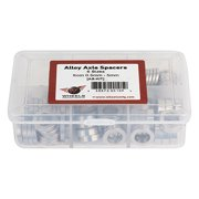 Wheel Master Wheel Axle Spacers with Case, 120 Spacers 0.5 to 5mm