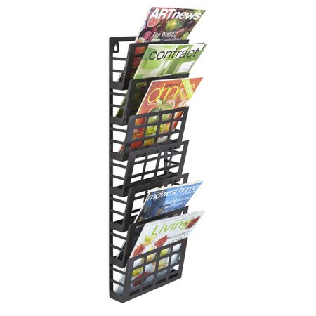 Safco Products Company Grid 7 Pocket Magazine Rack