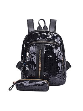 2de85d460fa4 Product Image DZT1968Fashion Girl Sequins School Bag Backpack Travel  Shoulder Bag+Clutch Wallet