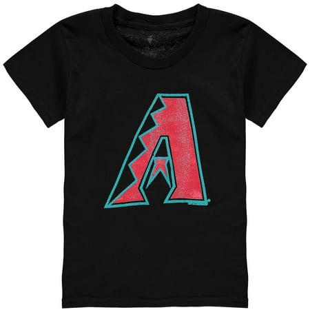 Arizona Diamondbacks Soft as a Grape Youth Distressed New Logo T-Shirt - Black - University Of Arizona Logo