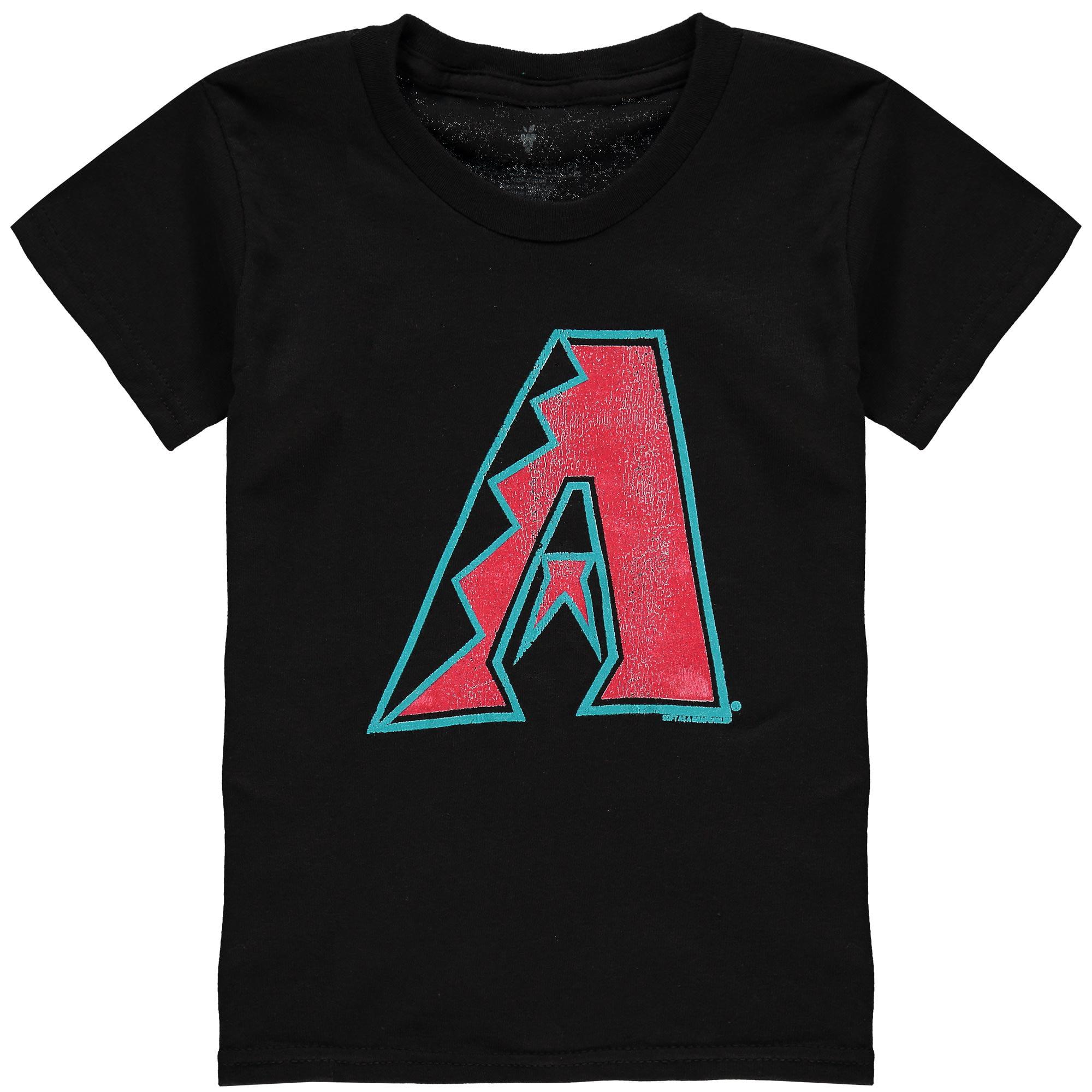Arizona Diamondbacks Soft as a Grape Youth Distressed New Logo T-Shirt - Black