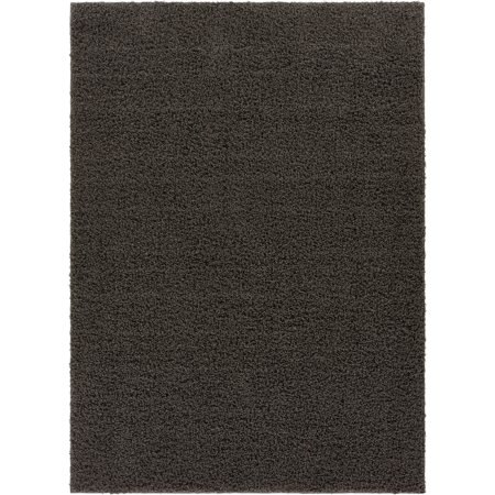 Well Woven Soft Fluffy Non-Skid/Slip Rubber Back Antibacterial Shag Rug 6x9 (6'7