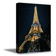 Awkward Styles Paris Modern Framed Wall Art Eiffel Tower Canvas Decor Paris Night View Eiffel Tower Collection Paris City View Printed Artwork Housewarming Decor Gifts Ideas Ready to Hang Pictures