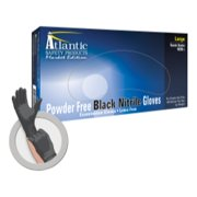 MARKET EDITION XLARGE BLACK PF NITRILE GLOVES