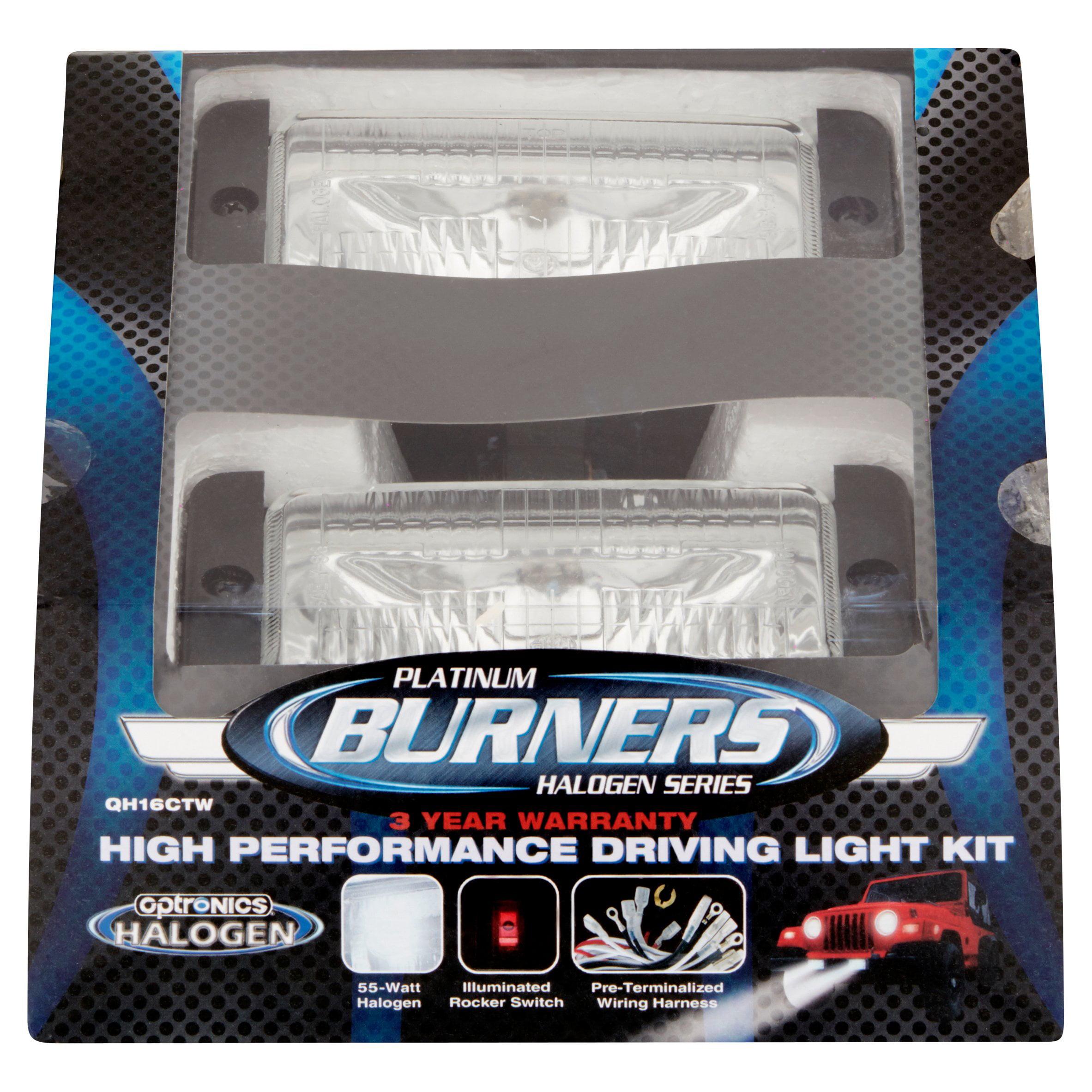 Optronics Burners Platinum Halogen Series High Performance Driving Light  Kit - Walmart.com