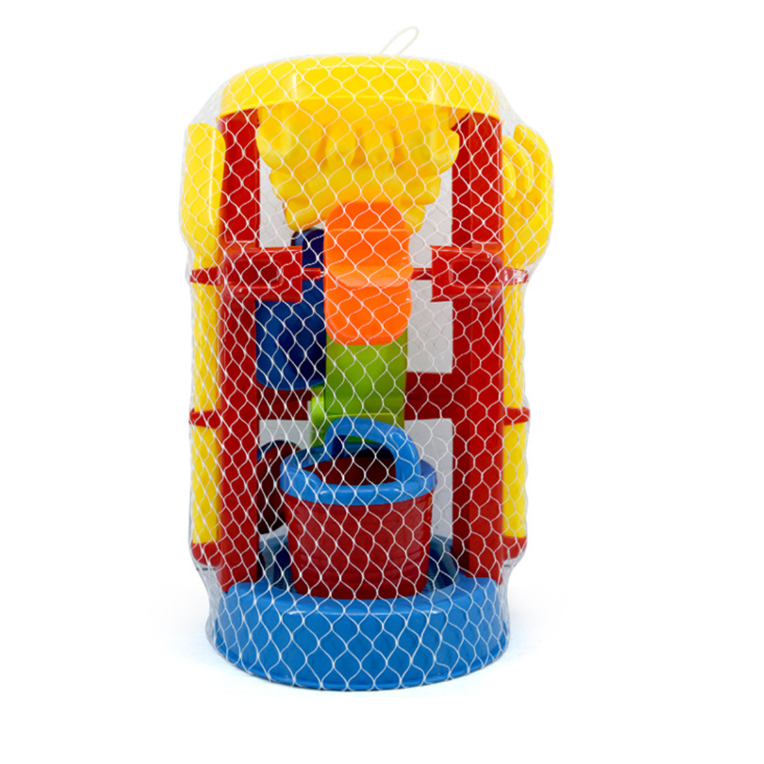 Click here to buy Big Size Beach Sand Toys Set Sand Glass with Mesh Bag for Kids Random Delivery.