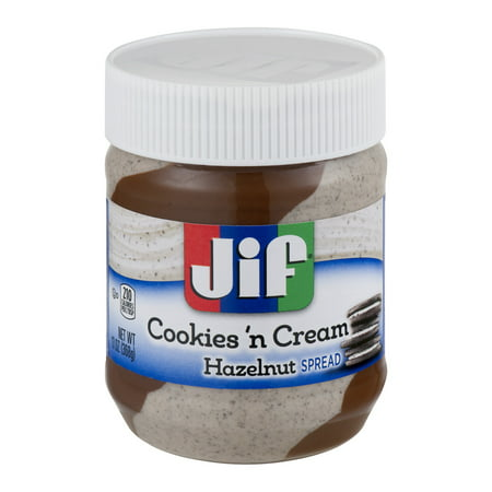 - (3 Pack) Jif Cookies 'n Cream Hazelnut Spread, 13-Ounce