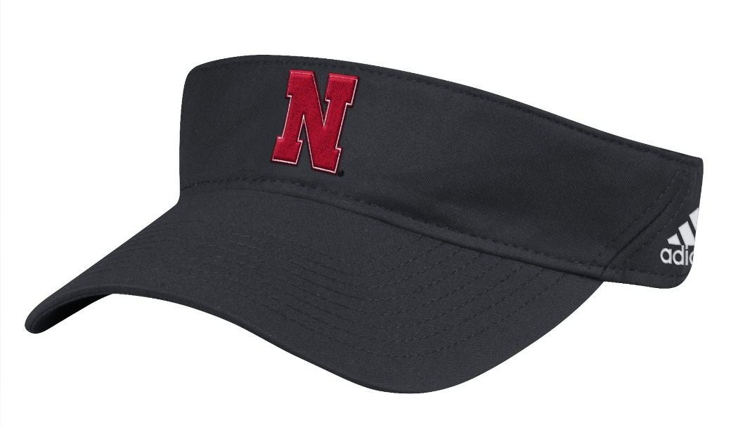 "Nebraska Cornhuskers Adidas NCAA ""Coaches"" Performance Adjustable Visor by Adidas"