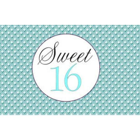 Sweet 16 16th Birthday Edible Cake Decoration Photo