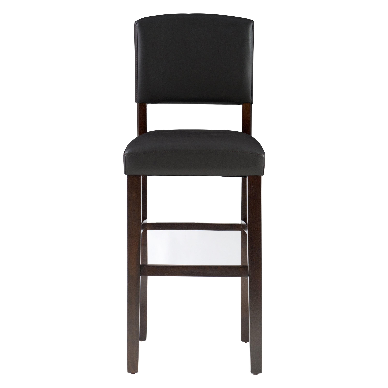 Pleasant Linon Monaco Bar Stool 30 Inch Seat Height Multiple Colors Machost Co Dining Chair Design Ideas Machostcouk