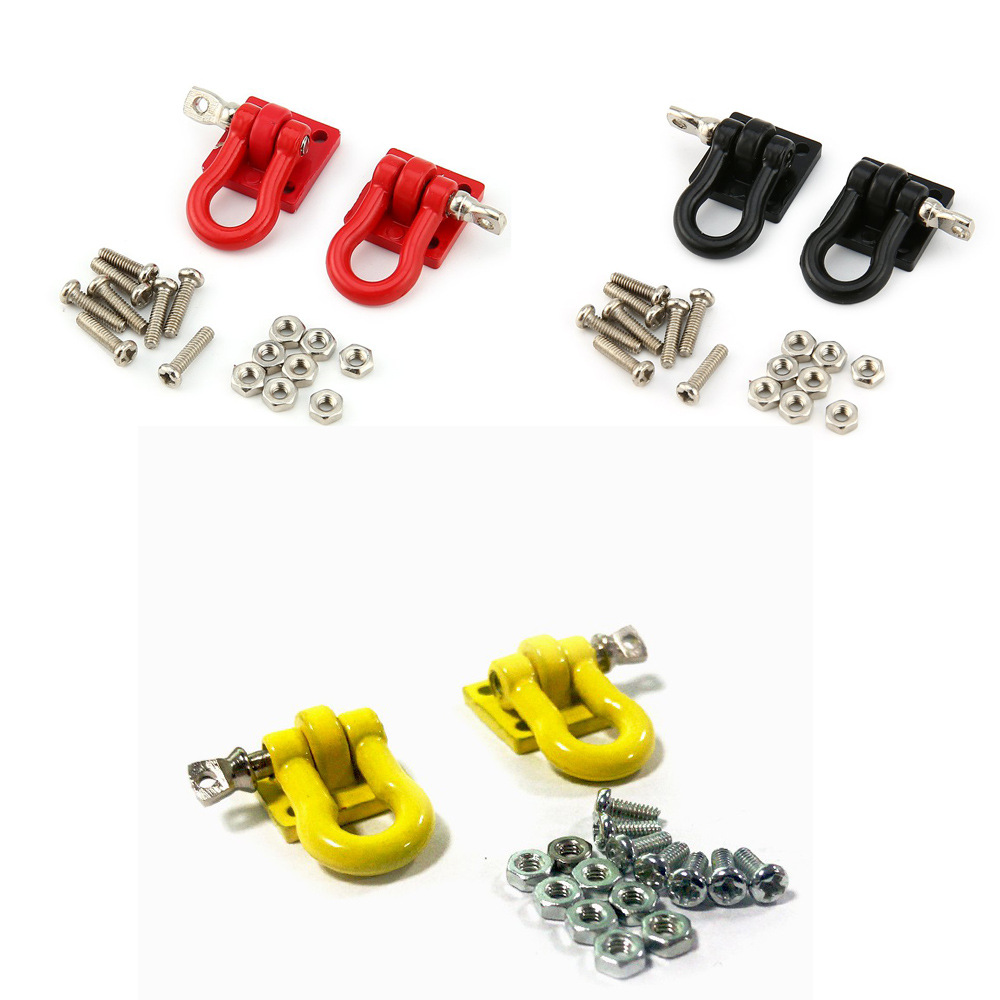Alloy hooks hitch tow shackles for 1//10 RC craw3cG