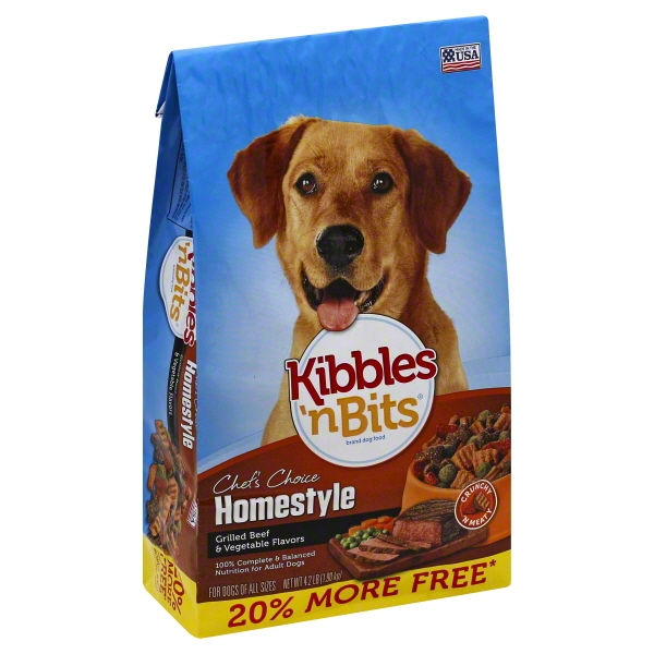 Kibbles 'n Bits Homestyle Grilled Beef & Vegetable Flavors Dry Dog Food Bonus Bag 4.2LB