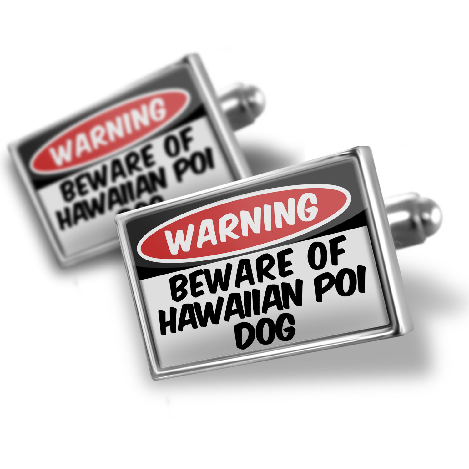 Cufflinks Beware of the Hawaiian Poi Dog from United States - NEONBLOND