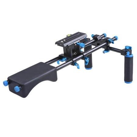 Studio DSLR Rig Video Camera Camcorder Shoulder Mount Stabilizer w/Dual Handgrip - image 8 de 9