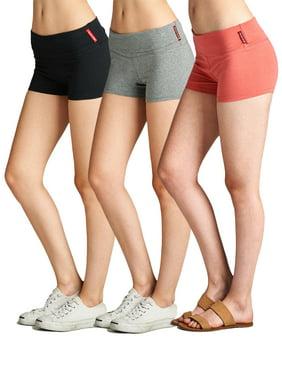 5c3a2de6fccb Product Image Essential Basic Junior Women Fold Over Low Rise Short Cotton  Spandex Yoga Dance
