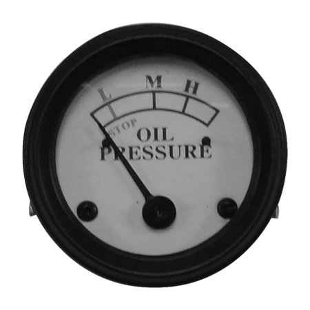 Complete Tractor Oil Pressure Gauge 1407-0565 for John Deere A, AN, ANH, AO, AR, AW, AWH, B, BN, BNH, BW, BWH, D, G, GH, GM, GN, GW, H, M, MC, (Oil Pull Tractor)