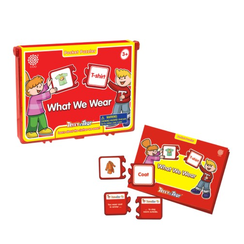 Tedco Toys What We Wear Pocket Puzzle