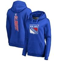 Henrik Lundqvist New York Rangers Fanatics Branded Women's Backer Pullover Hoodie - Royal