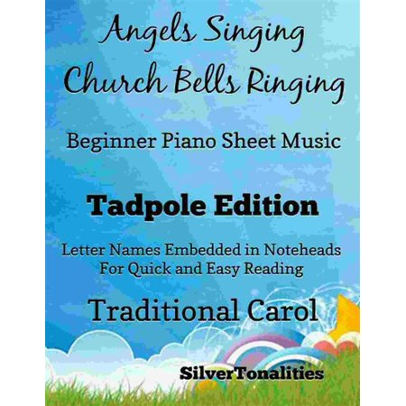 Angels Singing Church Bells Ringing Beginner Piano sheet Music Tadpole Edition - eBook - Halloween Piano Music For Beginners