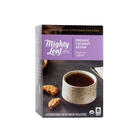 - Mighty Leaf, Organic Coconut Assam Stitched Tea Bags, 15 ct