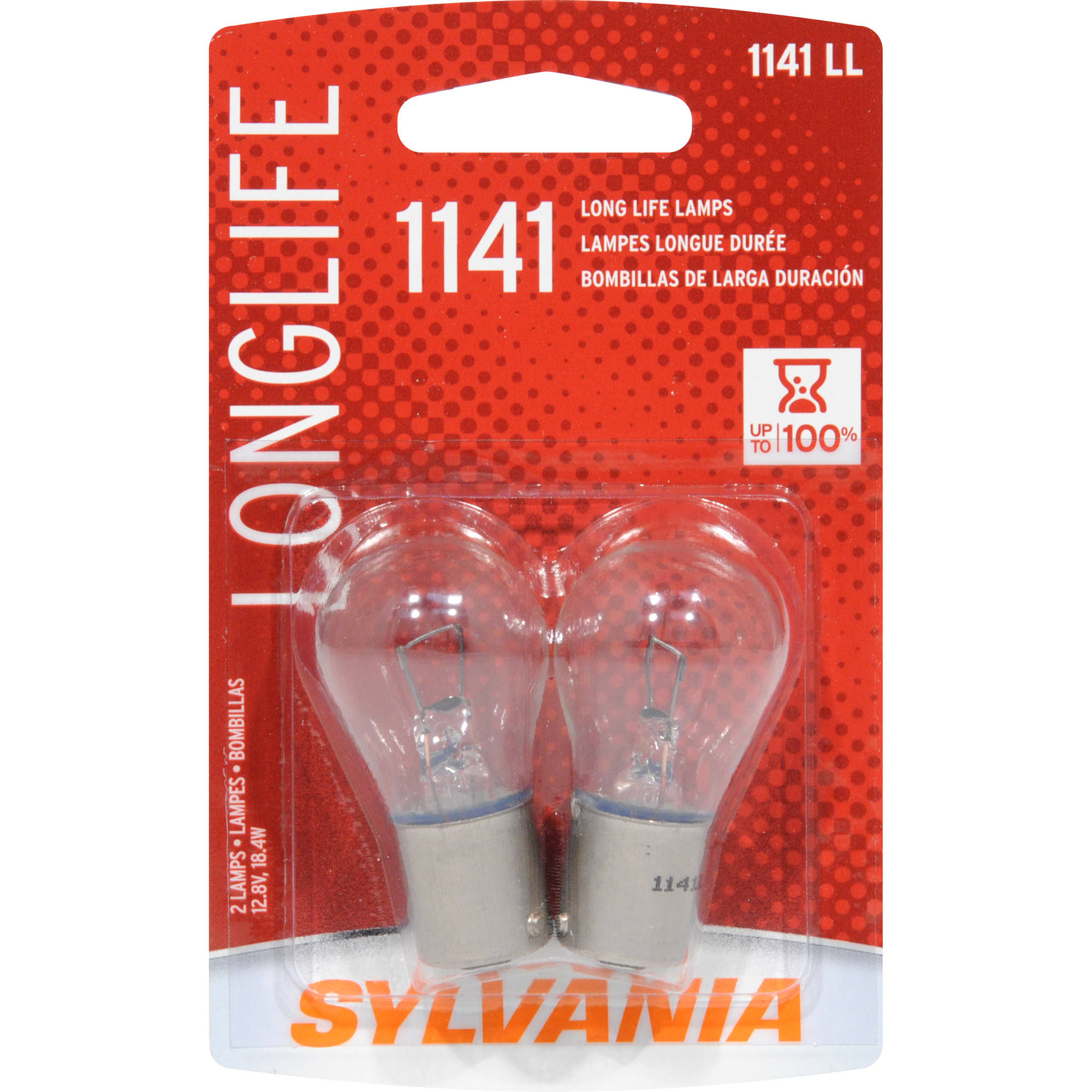 Sylvania 1141 Long-Life Miniature Bulb, Twin Pack