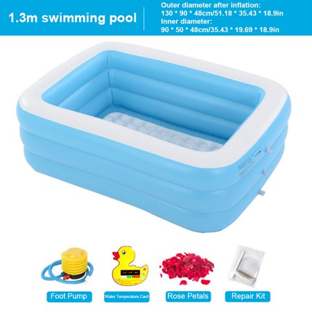 LeKing Inflatable Swimming Pool Safe Skin-friendly Bathtub Blow up Pool for Children - image 2 de 2